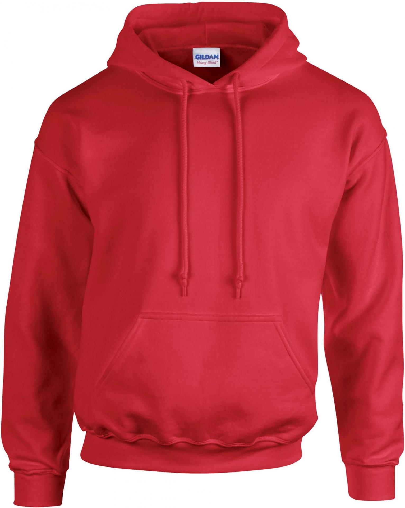 Sweat capuche homme rouge