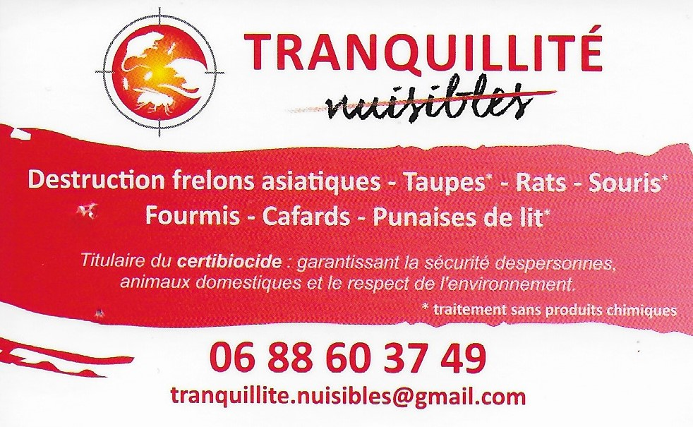 Tranquilite nuisibles